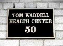 Tom Waddell Health Center sign